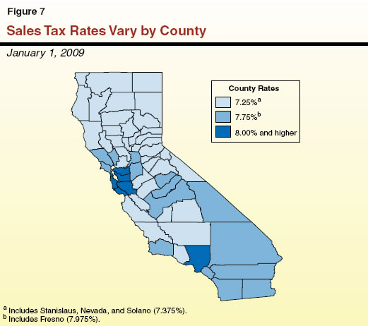 Sales Tax Rates Vary by County