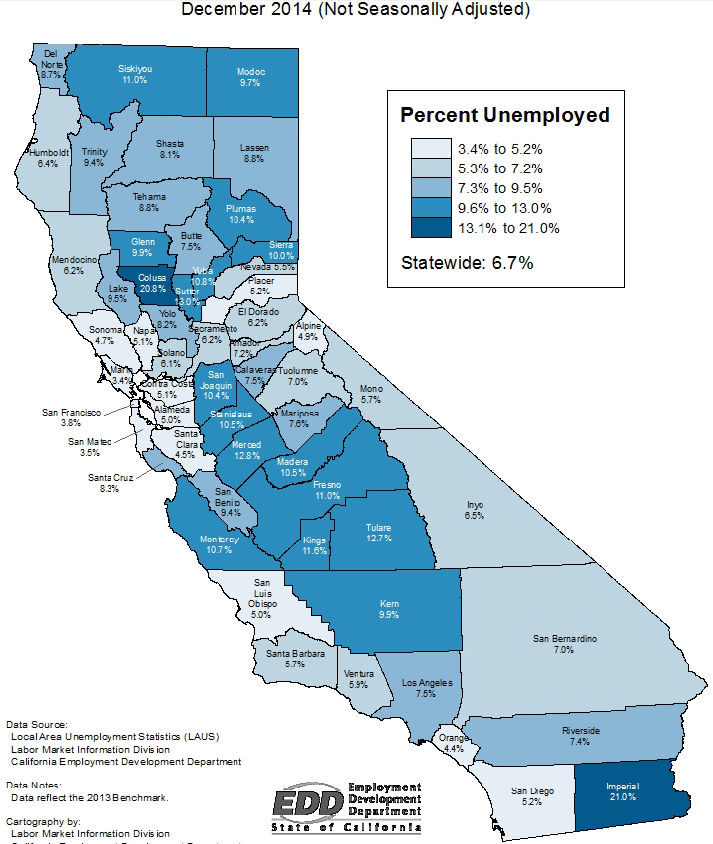 Agricultural Areas Tend To Have Higher Unemployment