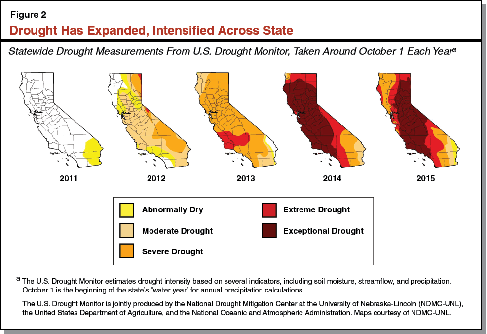 Figure 2 - Drought Has Expanded, Intensified Across State