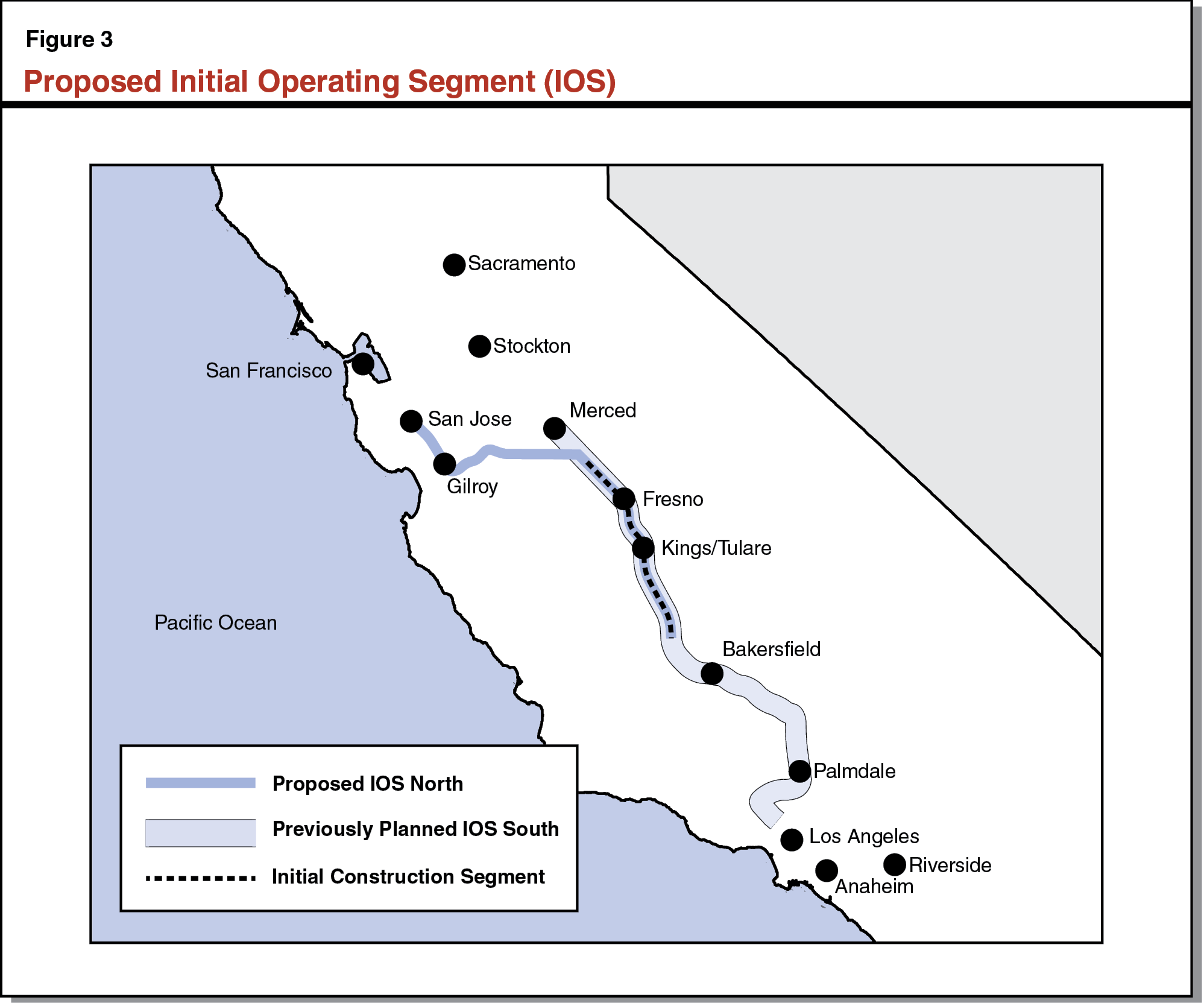 Figure 3 - Proposed Initial Operating Segment (IOS)