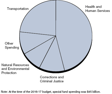 Health and Human Services Is Close to Half of Special Fund Spending