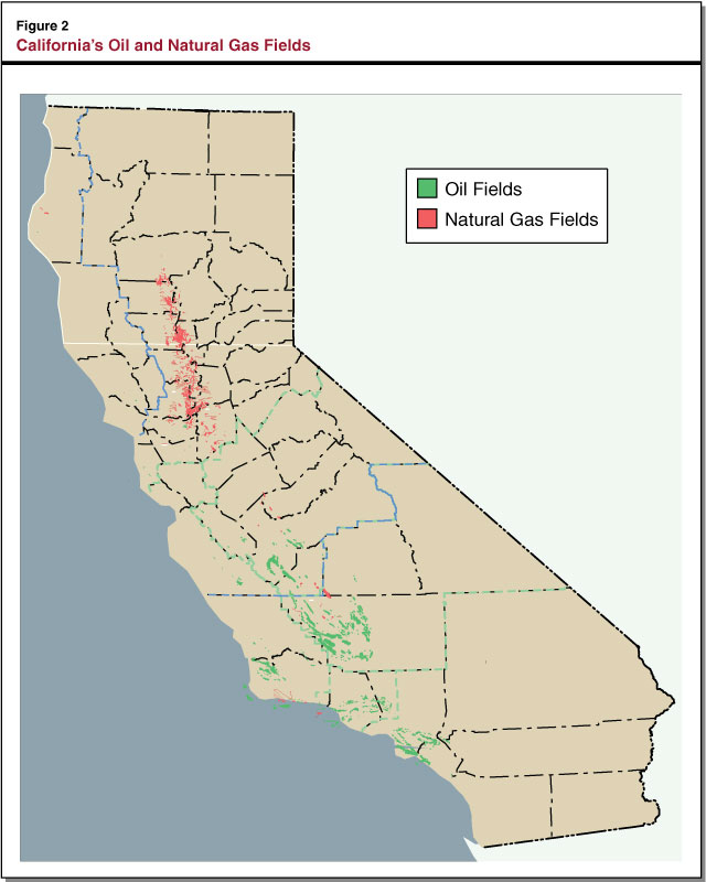 Figure 2 - California's Oil and Natural Gas Fields