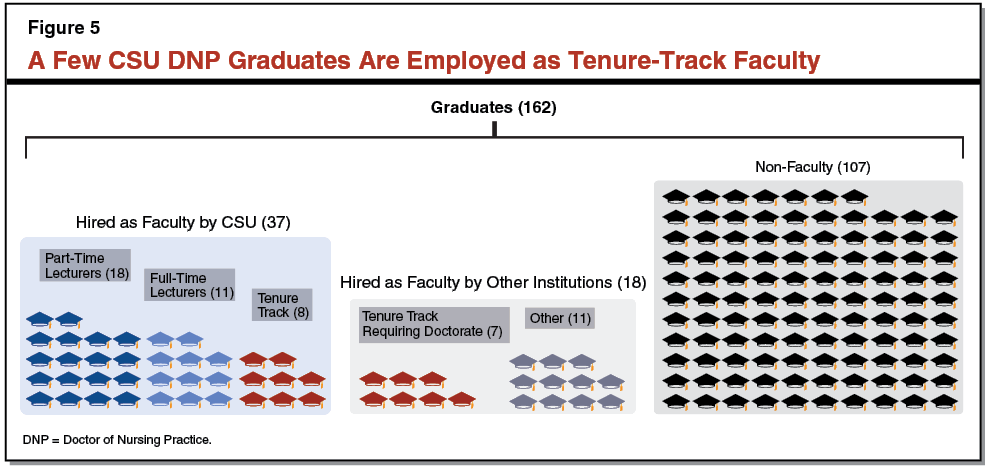 Figure 6 - One-Third of CSU DNP Graduates Are Employed as Faculty