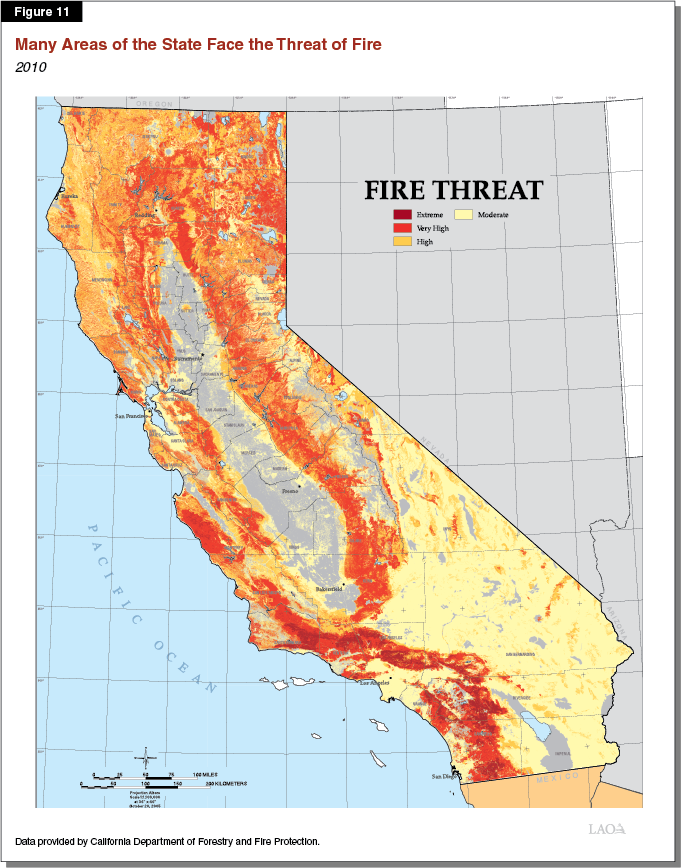 Figure 11 - Many Areas of the State Face Fire Risk