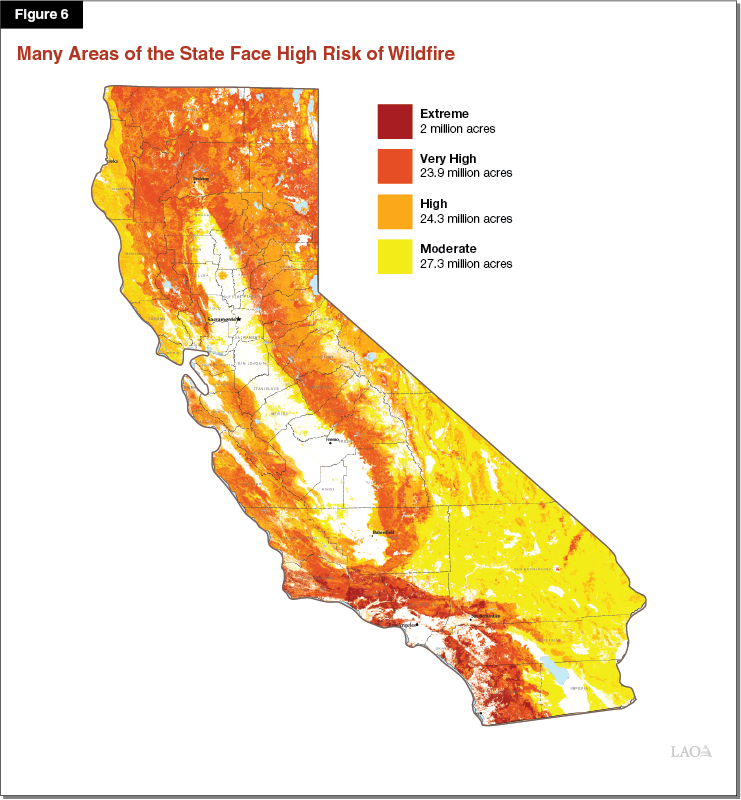 Figure 6: Many Areas of the State Face the Threat of Fire