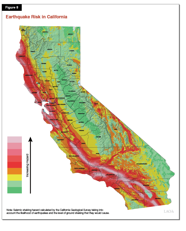 Figure 8: Earthquake Risk in California