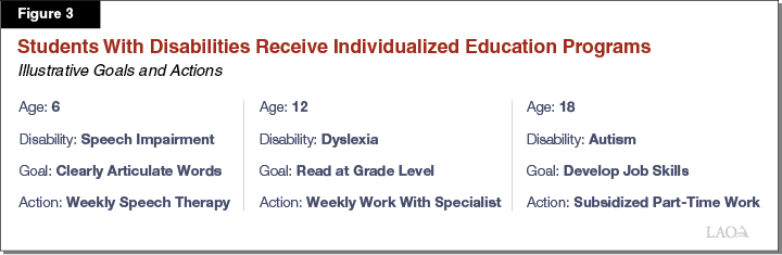 Figure 3 - Students With Disabilities Receive Individualized Education Programs