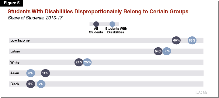 Figure 5 - Students With Disabilities Disproportionately Belong to Certain Groups