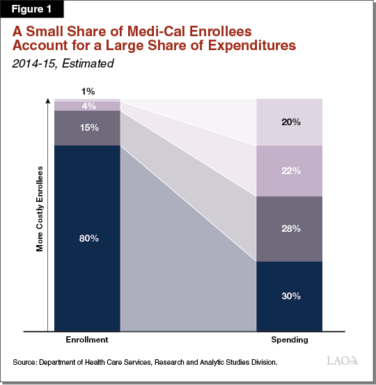Figure 1 - A Small Share of Medi-Cal Enrollees Account for a Large Share of Expenditures